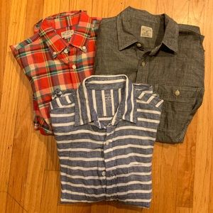 3 Small J Crew button up shirts.